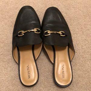 Merona 8 mules / slides black
